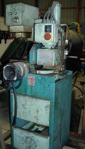 (1) PREOWNED EISELE SAW, SEMI AUTOMATIC MITERING COLDSAW, MODEL #: VMS-300PV, S/N: 3844