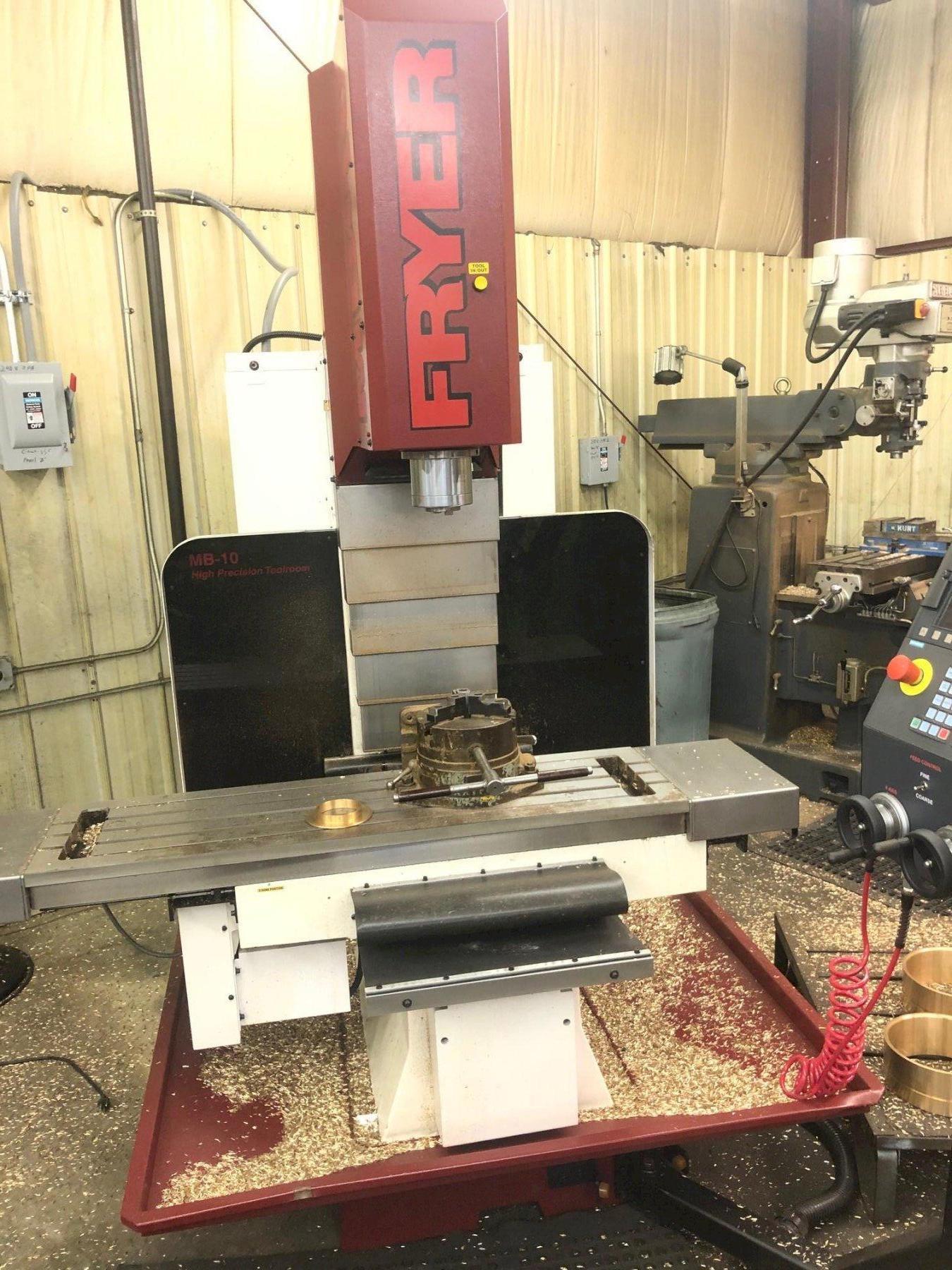 FRYER Model MB-10R 3-Axis Rigid Head CNC Vertical Bed Mill, New 2019.