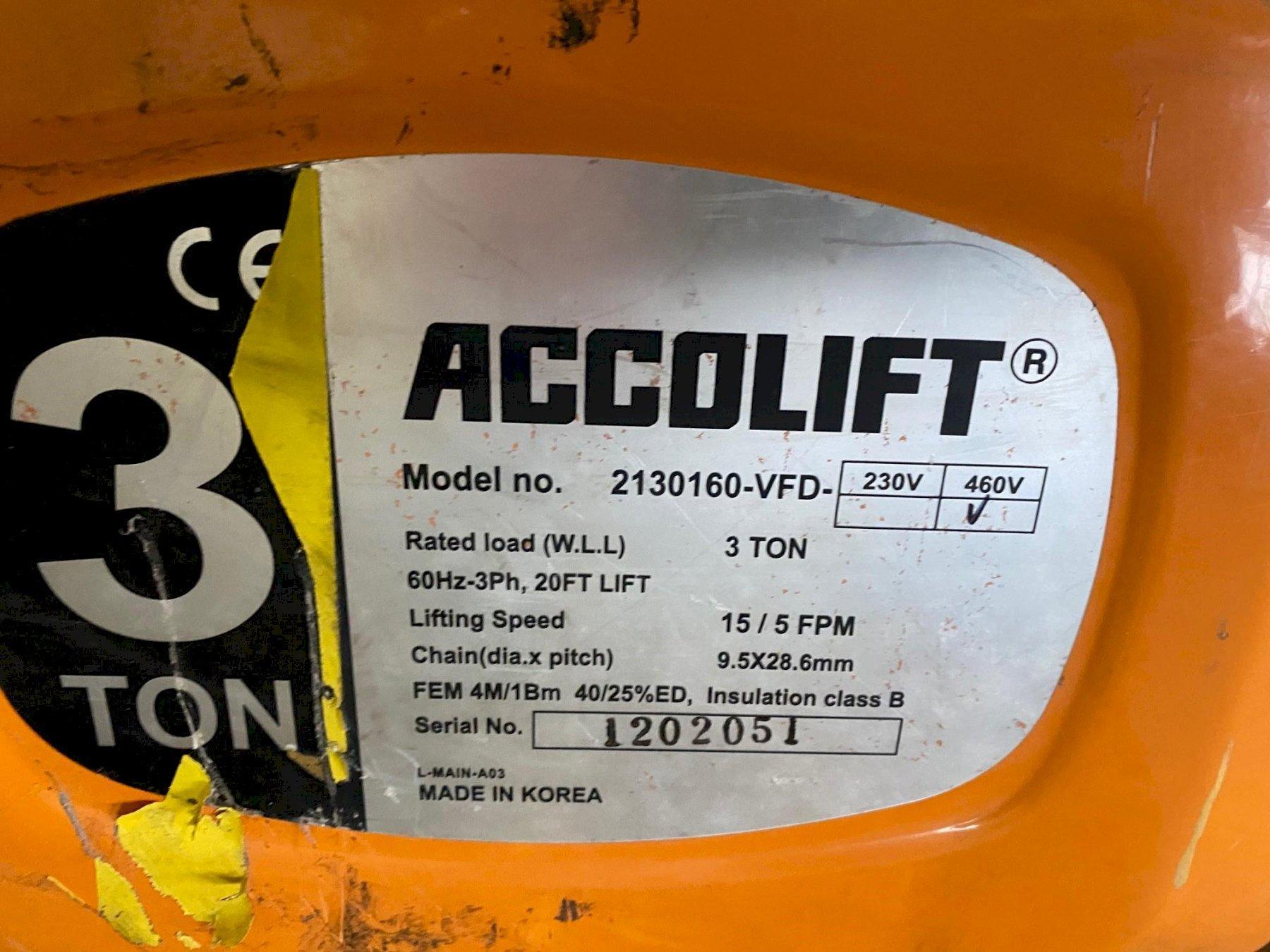 3 Ton Accolift Powered Hoist