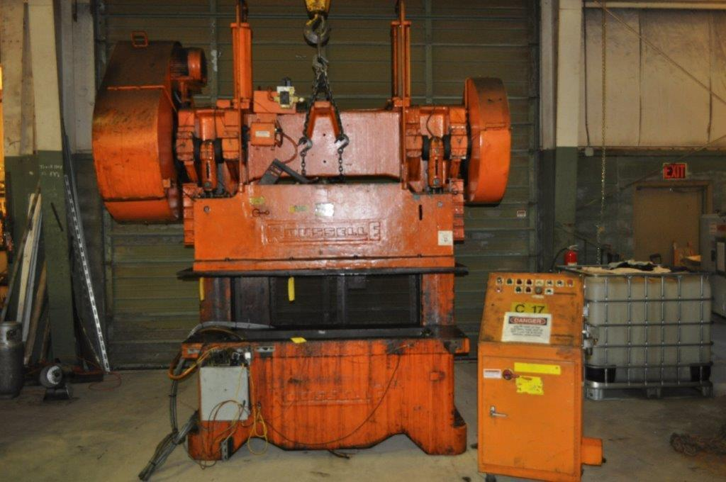 100 Ton Rousselle Gap Frame Double Crank Press