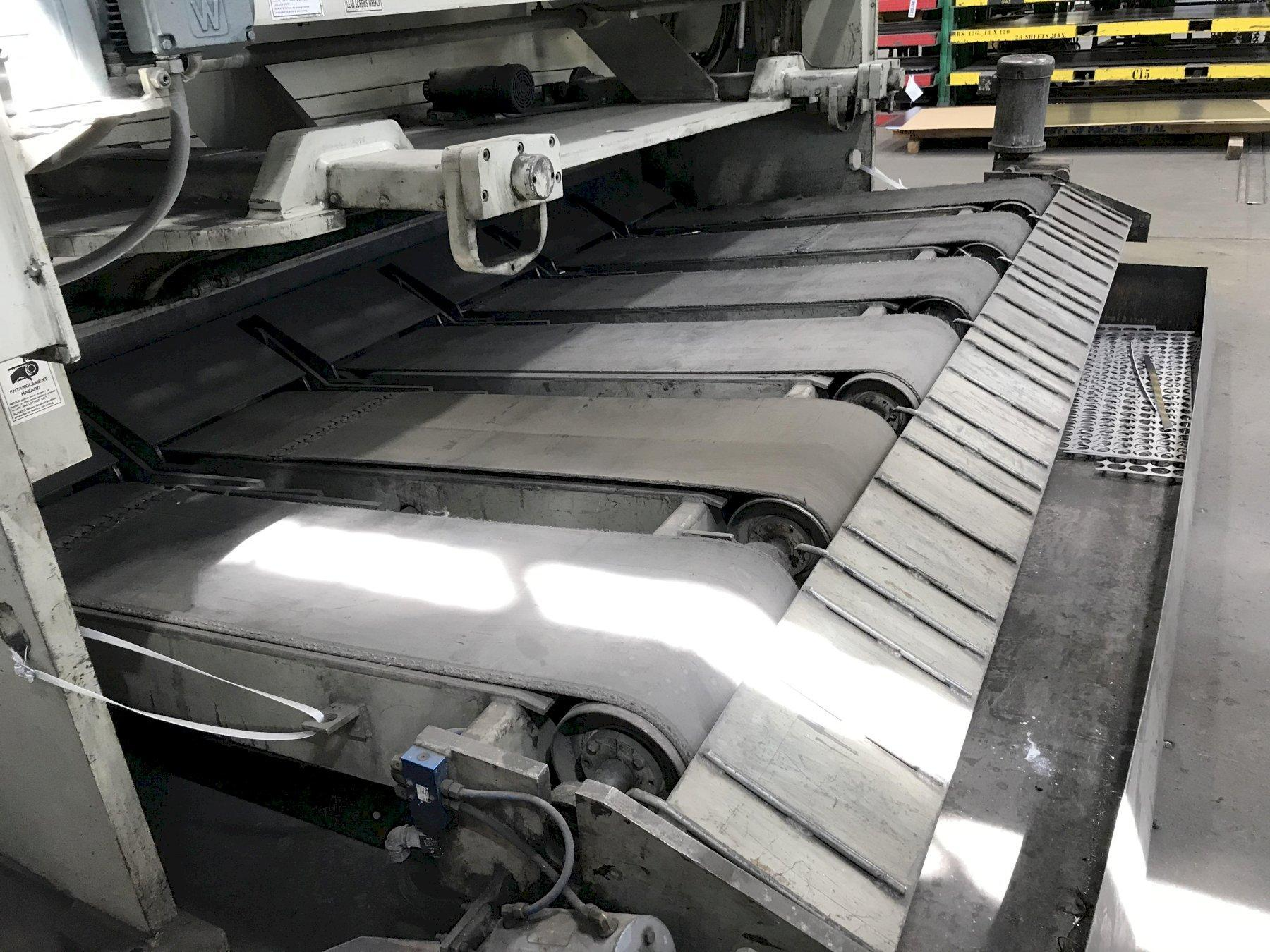 """1/2"""" X 12' ACCURSHEAR, MODEL 850012, NEW 2001, FRONT AND REAR GAUGING, EXIT CONVEYOR"""