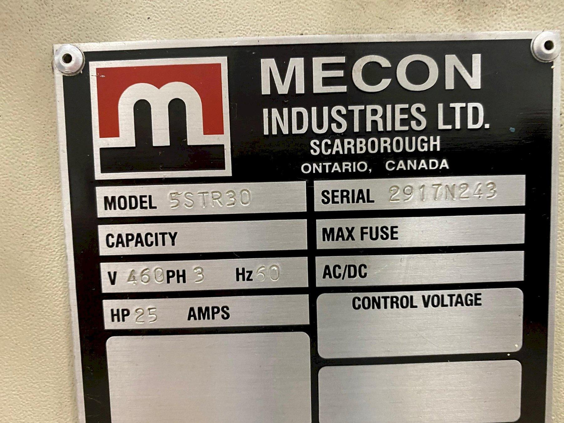 """20,000 lbs x 30"""" Mecon Servo Feed Line, Reconditioned"""
