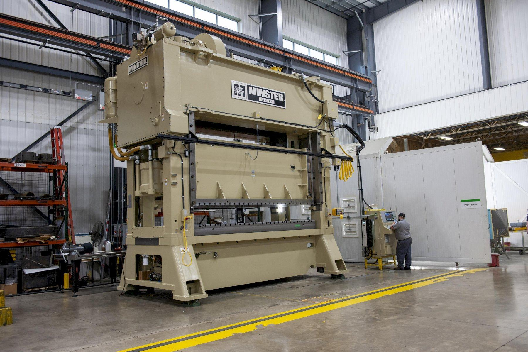 Minster E2-600-144 Straight Side Press,  Remanufactured