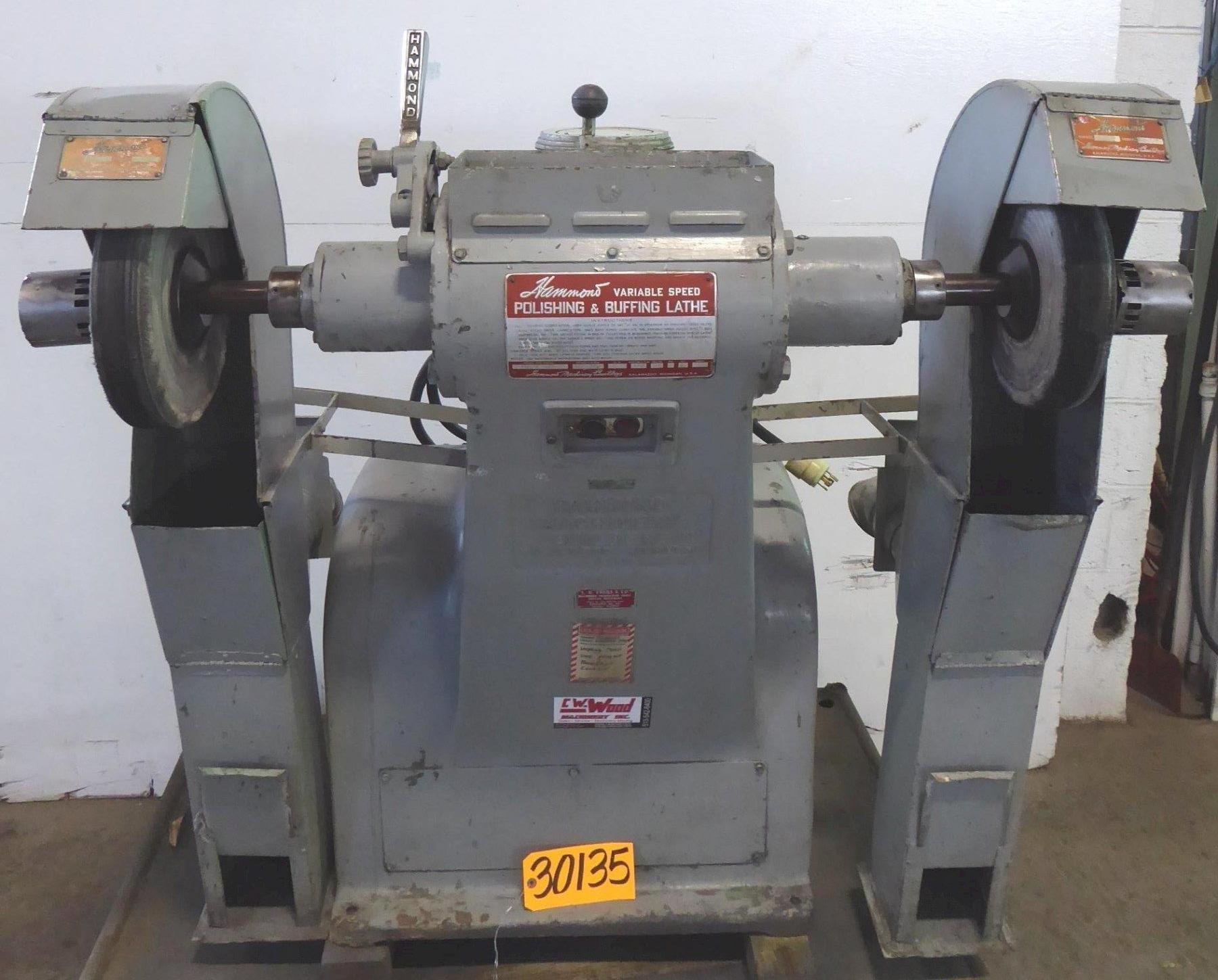 HAMMOND Double End Buffer No. 3-VROL-B, V-Speed 1200-2700 RPM, 47″ Spindle Length, 3 HP
