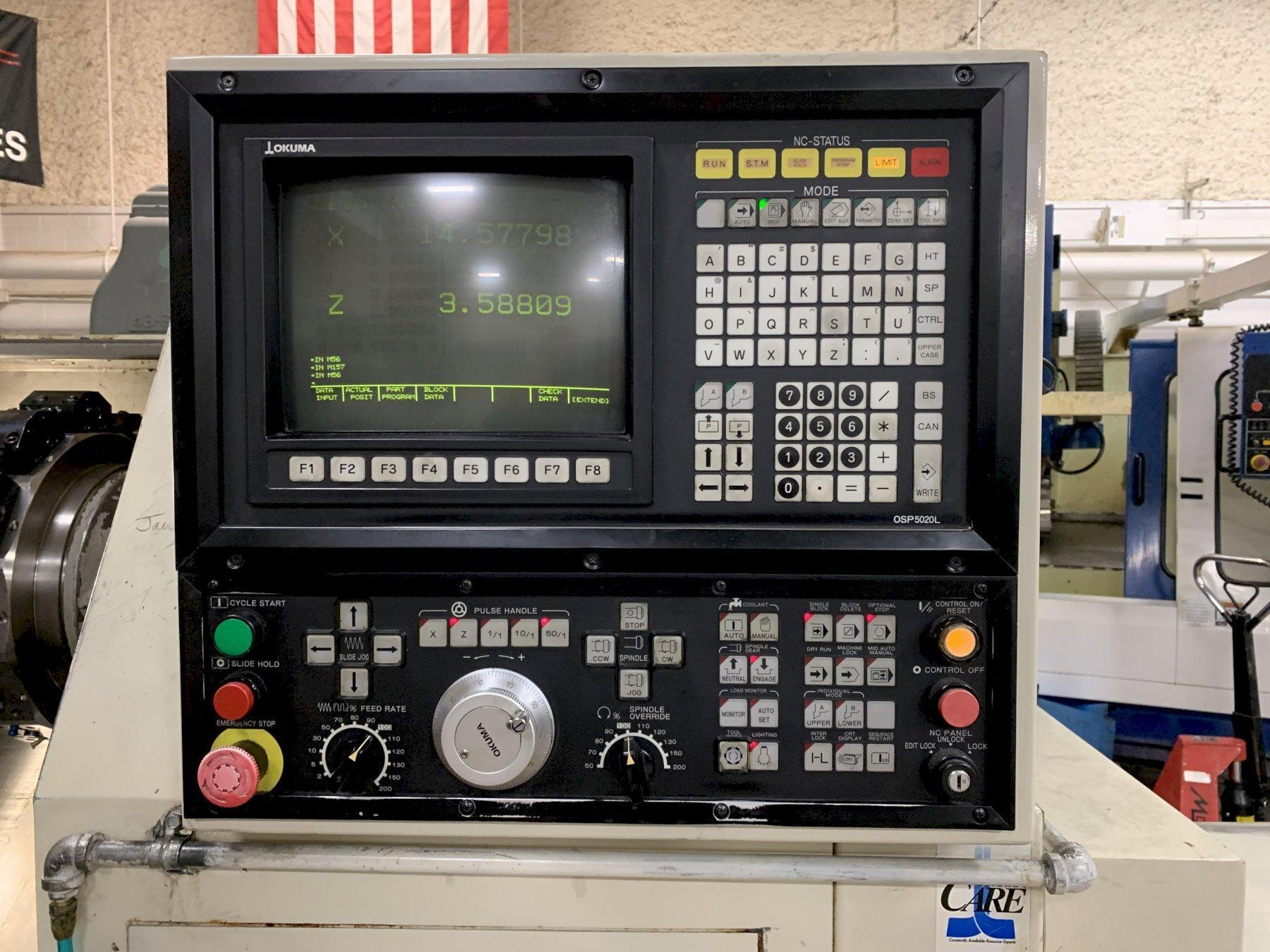 Okuma Cadet L1420 Turning Center, S/N 0178, New approx 1996.