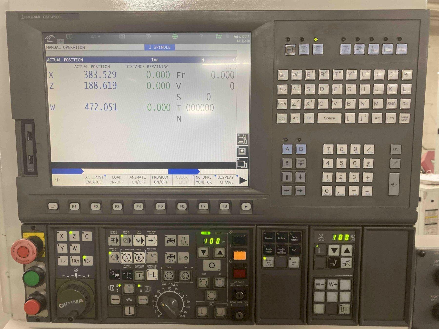 Okuma Captain L370BBW CNC Lathe, OSP P200L, 21