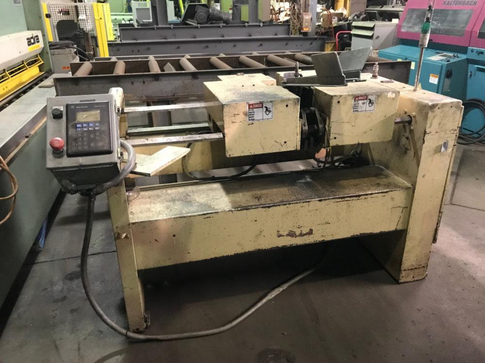 "Used S&S MACHINERY DOUBLE END TUBE & BAR END FINISHER, Model EF50A, 2"", Stock No. 10523"