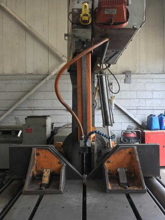 "USED HEM FULLY AUTOMATIC VERTICAL BANDSAW, Model V125HA-1, 18"" x 24"", Stock No. 10398"