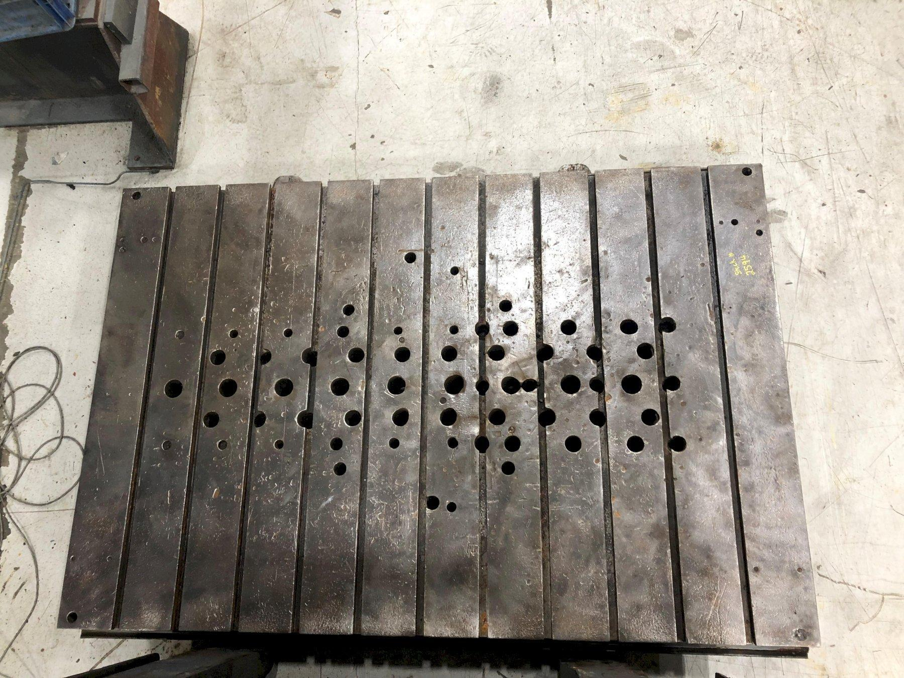 """72"""" x 48"""" x 5 1/2"""" Thick T-Slotted Bolster Plate"""