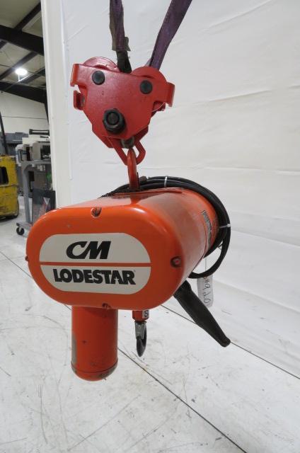 Columbus McKinnon Used  Lodestar 1 Ton Hoist with Trolley