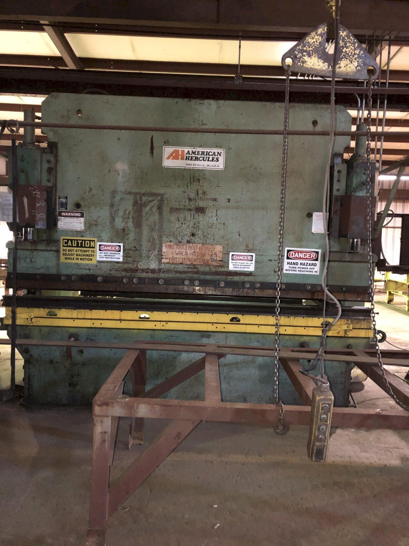 225 Ton x 12 ft. American Hercules Hydraulic Press Brake Model 225-12