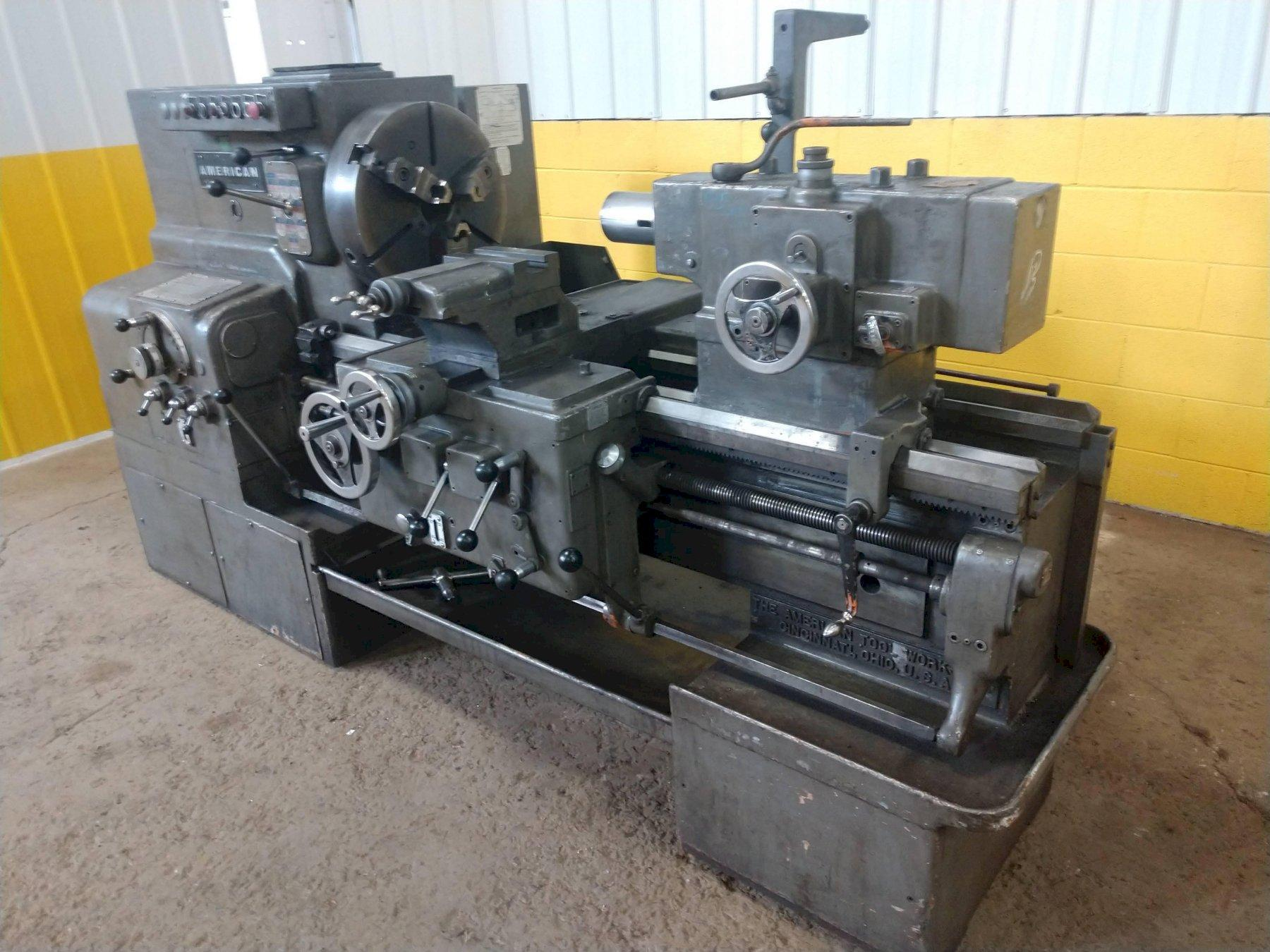 "24"" X 30"" AMERICAN ""STYLE D"" HEAVY DUTY ENGINE LATHE: STOCK #12650"