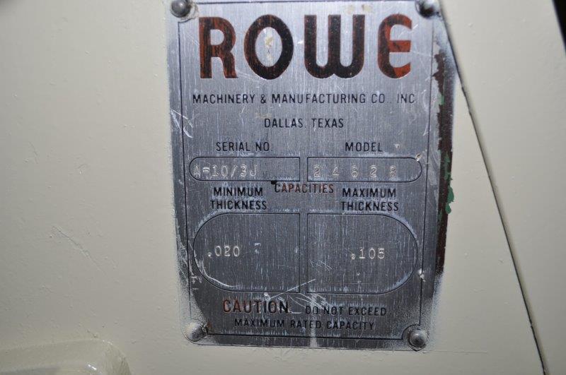 """10"""" x .105"""" ROWE STRAIGHTENER"""