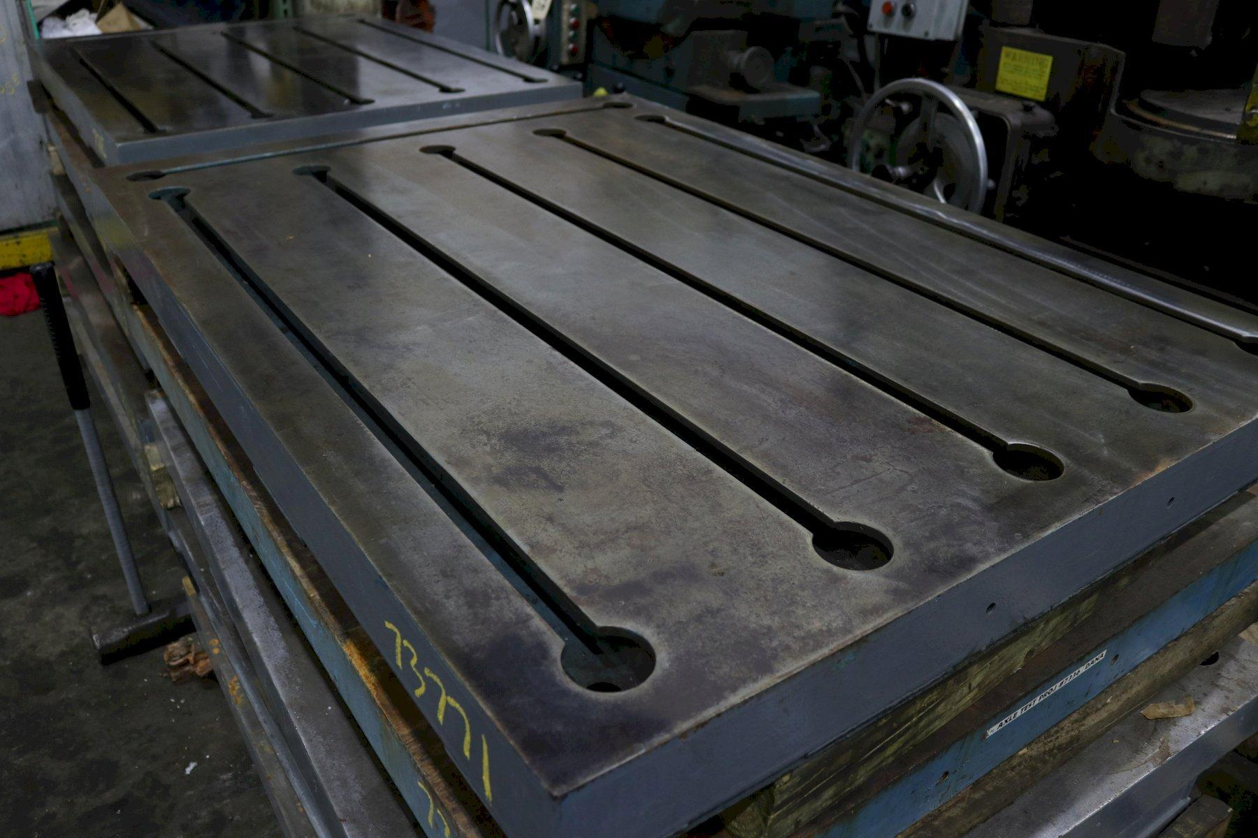 "43-1/2"" X 59"" X 4"" T SLOTTED STEEL LAYOUT PLATE: STOCK #73771"