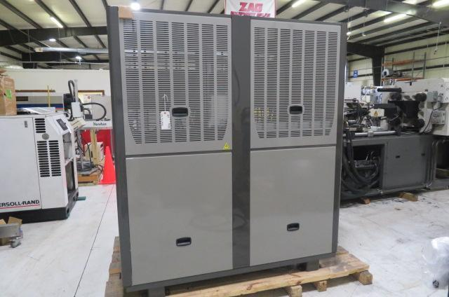 AEC  30 ton Remote Cooled Chiller and Condenser - GPRC-105 Package Chiller, yr 2016 & RC105 Remote Central Condenser, yr 2015,  460V - New Condition