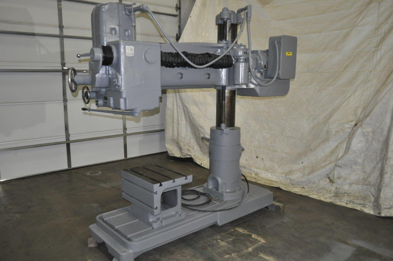 "4' x 9"" Carlton Radial Arm Drill"