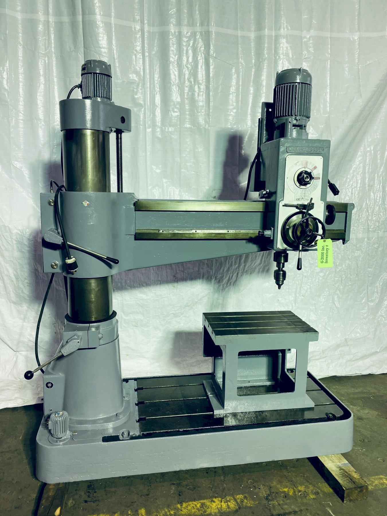 "50"" X 12""  WILLIS BERGO 1250 RADIAL ARM DRILL. STOCK # 0621020"