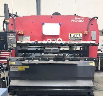 "AMADA MODEL RG80 3-AXIS CNC PRESS BRAKE – 80 TON X 98"" CAPACITY – NEW 1998"