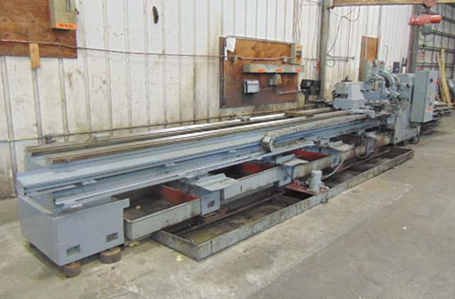"""30"""" x 240"""" DAINICHI LATHE, Model DHK 75x600, 29.5"""" Swing Over The Bed, 21"""" Swing Over the Cross, Inch & Metric Threading, Taper Attachment, 2 Steady Rests, New 1996."""