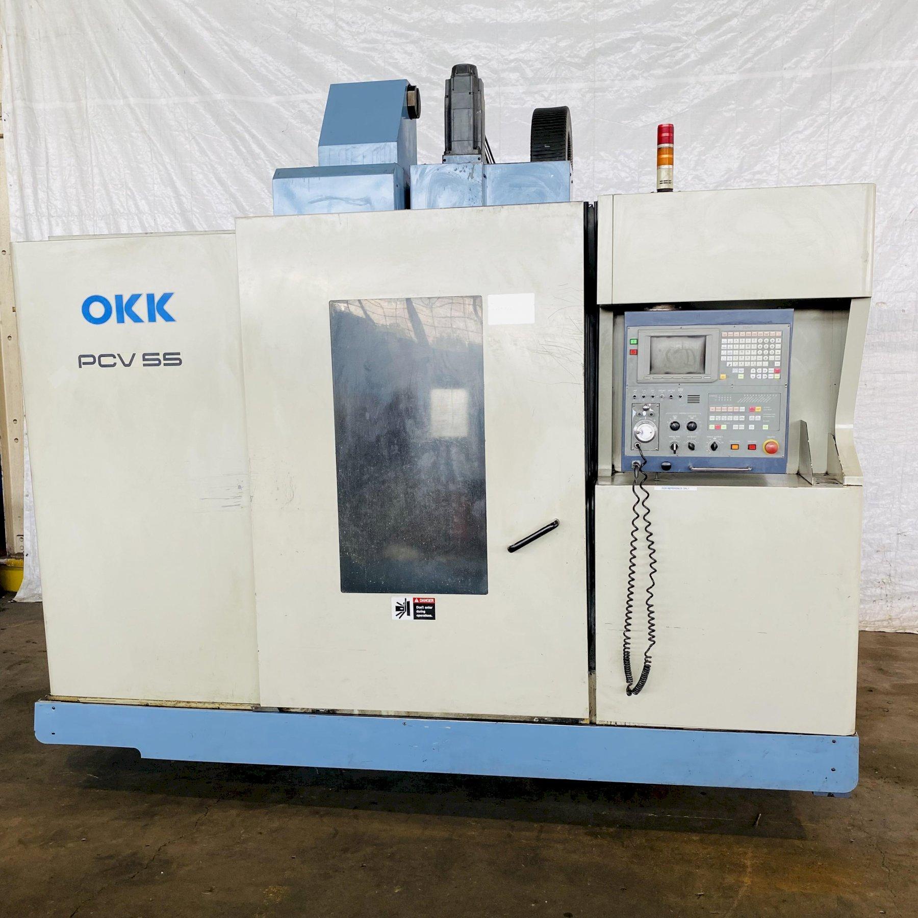 OKK PCV 55 CNC VERTICAL MACHINING CENTER. STOCK # 0633821