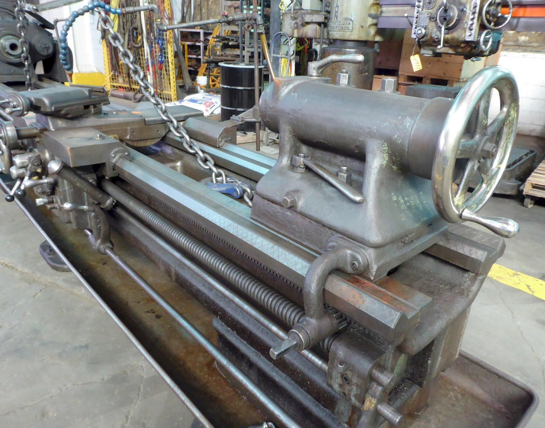 """22"""" x 120"""" Boye & Emmes Lathe, (3) Steady Rests, Recently Removed From Service, Low Price"""