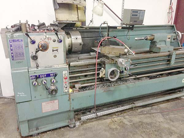 "20"" x 80"" VICTOR Engine Lathe, Model 2080S, 20' Swing over Bed, 11-1/2"" Over Cross Slide, 80"" Centers , 3-1/8"" Spindle Bore, Steady Rest, Threading, New 1986."