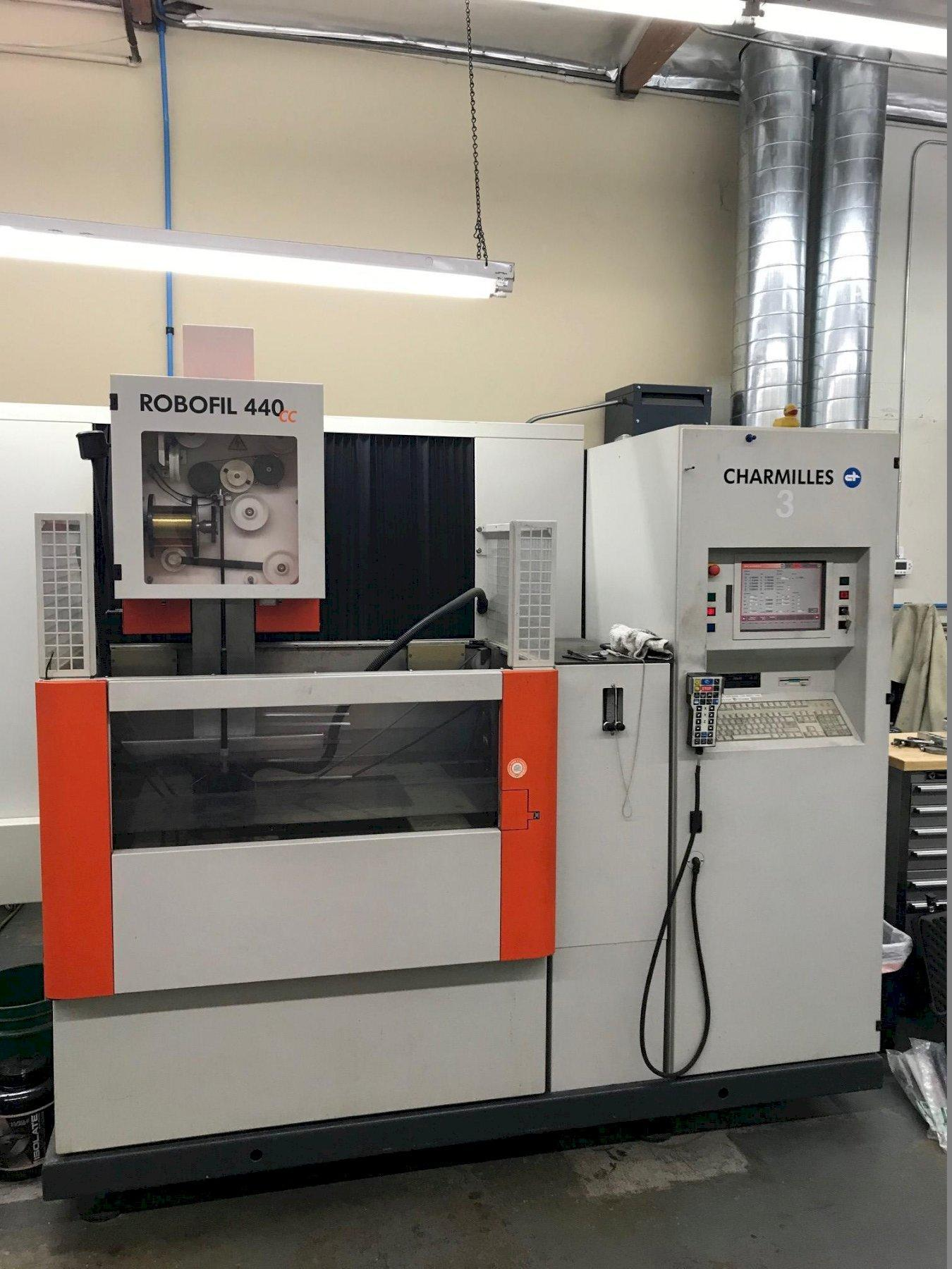 Charmilles Robofil 440cc Wire EDM 2005 with: Auto Threading, Submerged Cutting, and Glass Scales.
