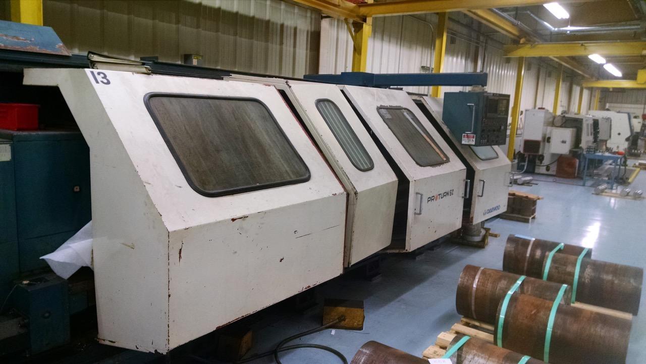 Daewoo Pro-Turn 60/2500 CNC Flat Bed Lathe, Mfg. 1995