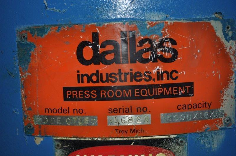 "5000 LB x 18"" DALLAS MOTORIZED DOUBLE END UNCOILER"