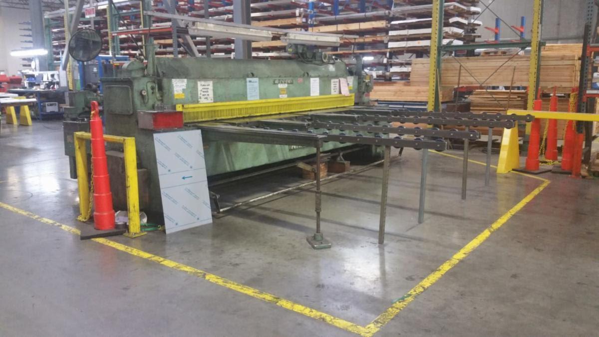 "12' x 1/4"" Wysong 1225 Mechanical Shear"