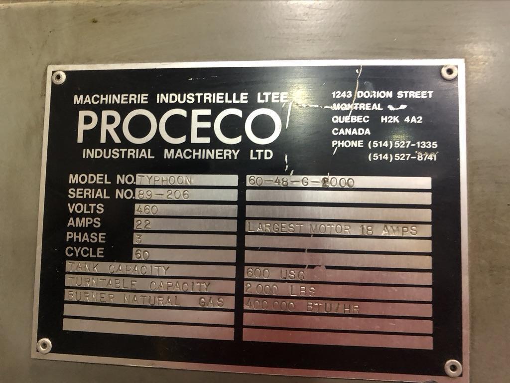 """60"""" PROCECO WASHER MODEL TYPHOON 60-48-2000"""