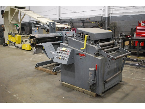 Egan Coil Reel Uncoiler and Powered Coil Straightener 10,000 Lbs.