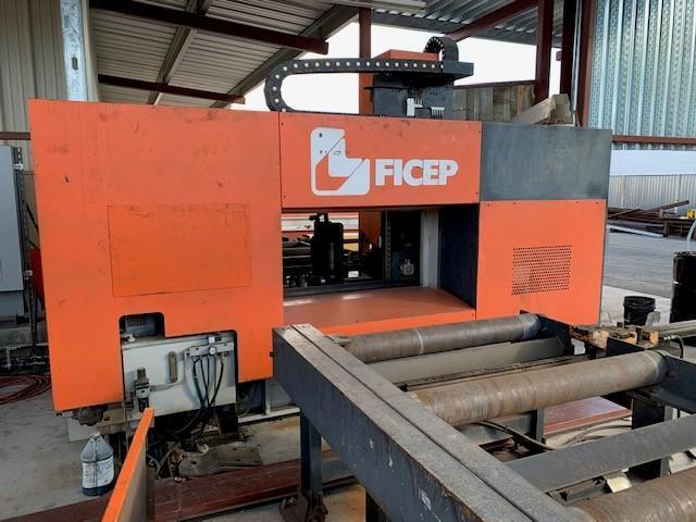 2005 FICEP MODEL #1101DZ STRUCTURAL BEAM DRILL WITH CONVEYOR: STOCK 14431