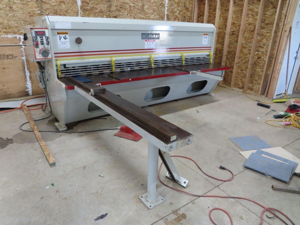10' x 10ga Accurshear 613510 Hydraulic Shear