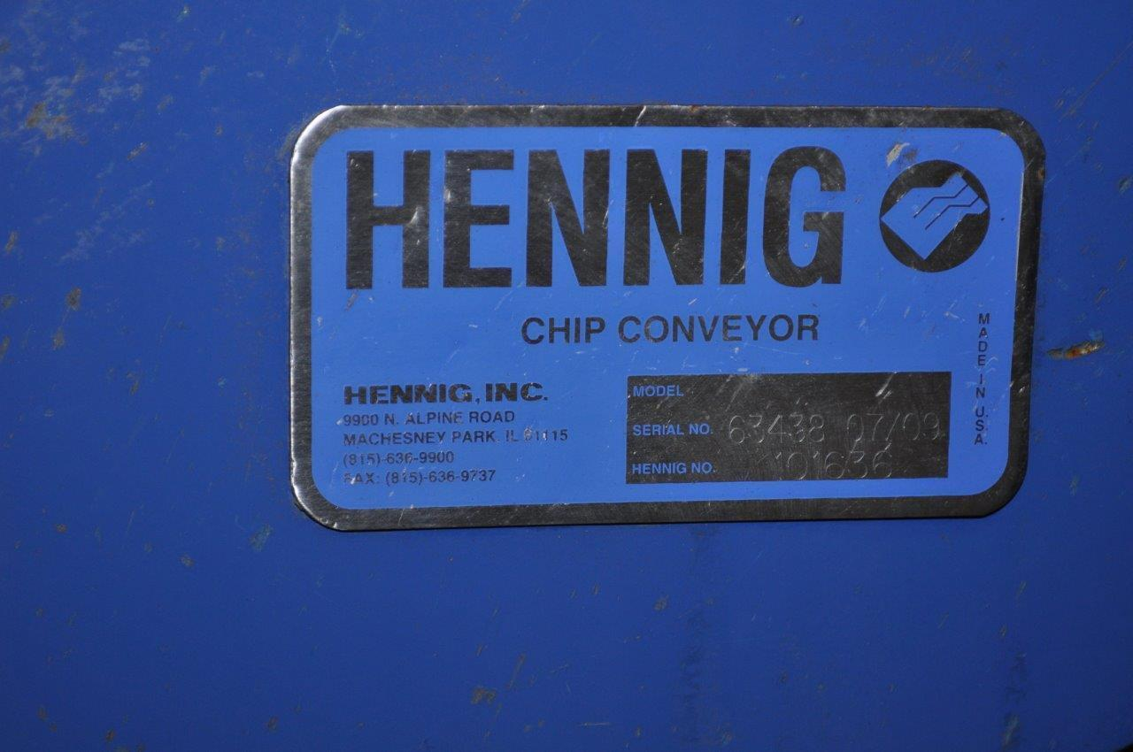 "10"" x 16' HENNING CHIP CONVEYOR"