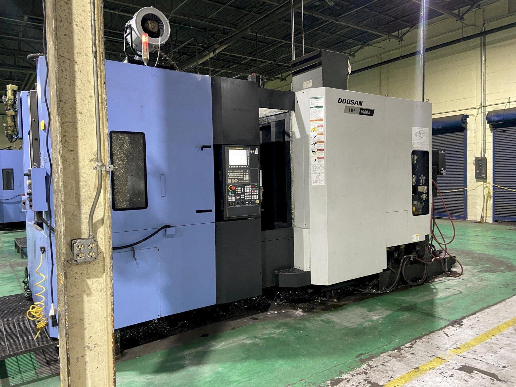 Doosan HP5100II CNC Horizontal Machining Center, Fanuc 31iA, 19.7
