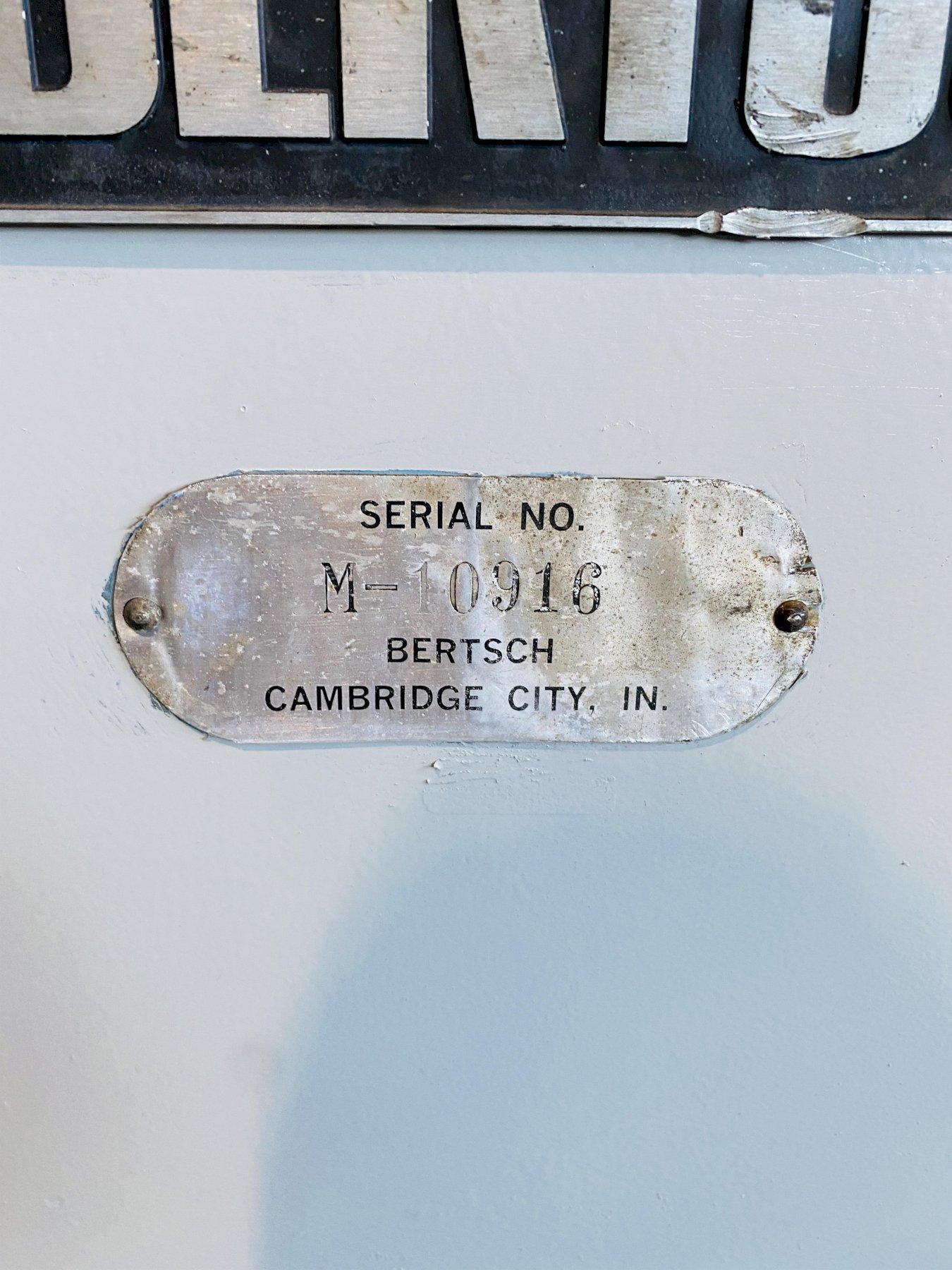 "10' x 1/2"" BERTSCH 50-10 4 ROLL DOUBLE INITIAL PINCH HYDRAULIC PLATE ROLL. STOCK # 0308321"
