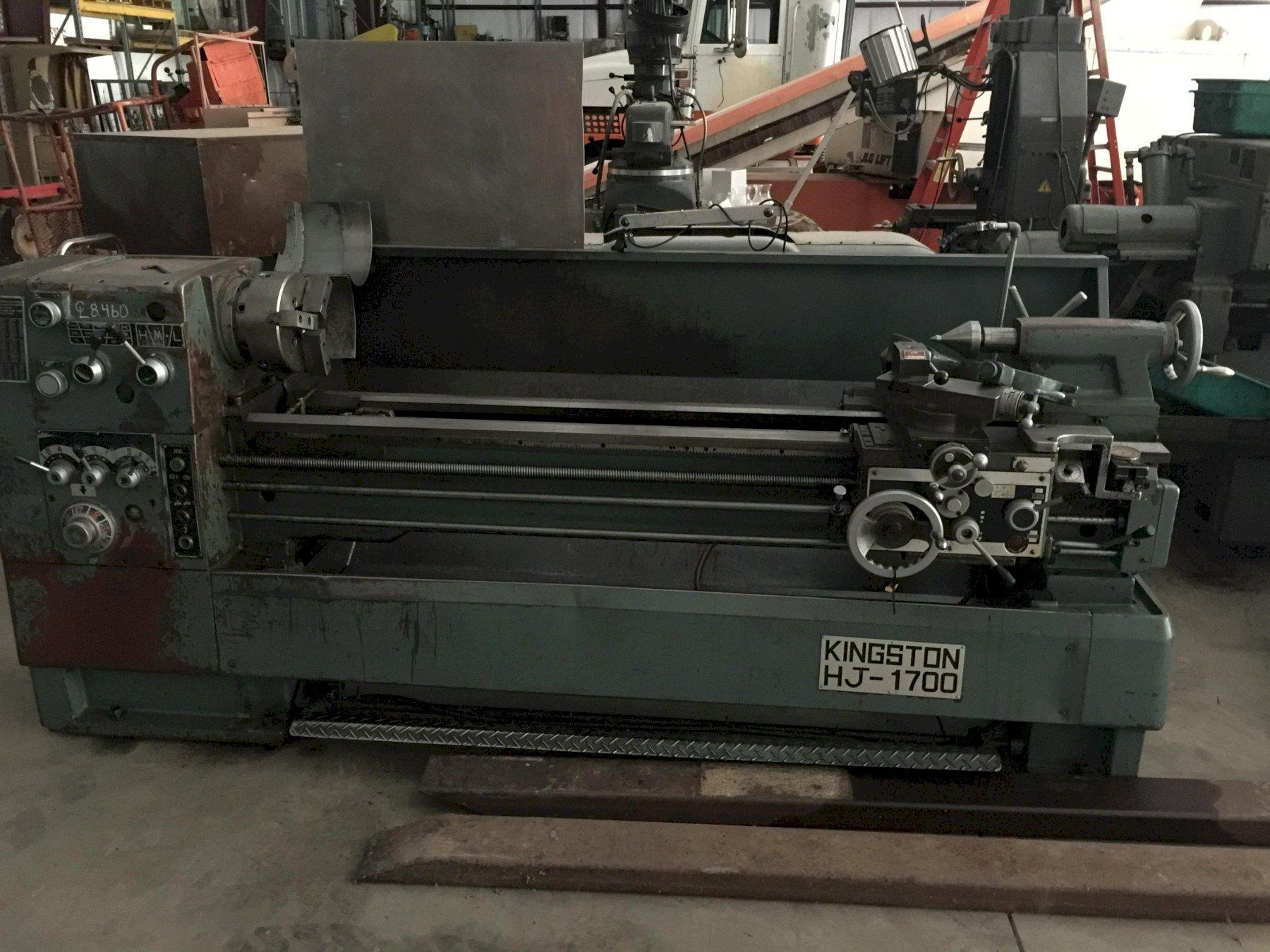 "Kingston HJ1700 Engine Lathe with: 17"" Swing, 67"" Centers, and 10"" Chuck Taper Attachment."