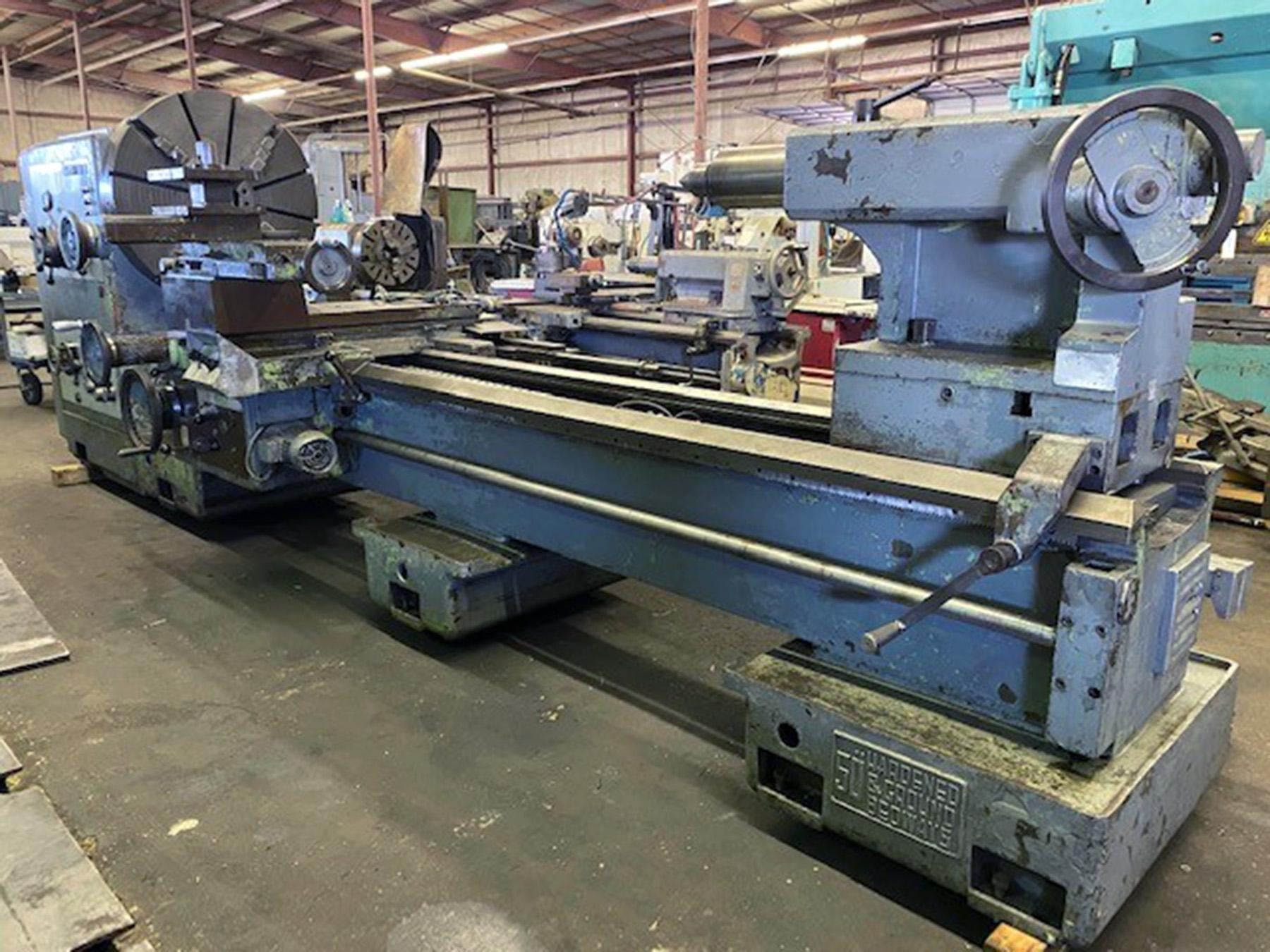 "USED, 55"" X 144"" SUMMIT-50 HEAVY DUTY ENGINE LATHE"