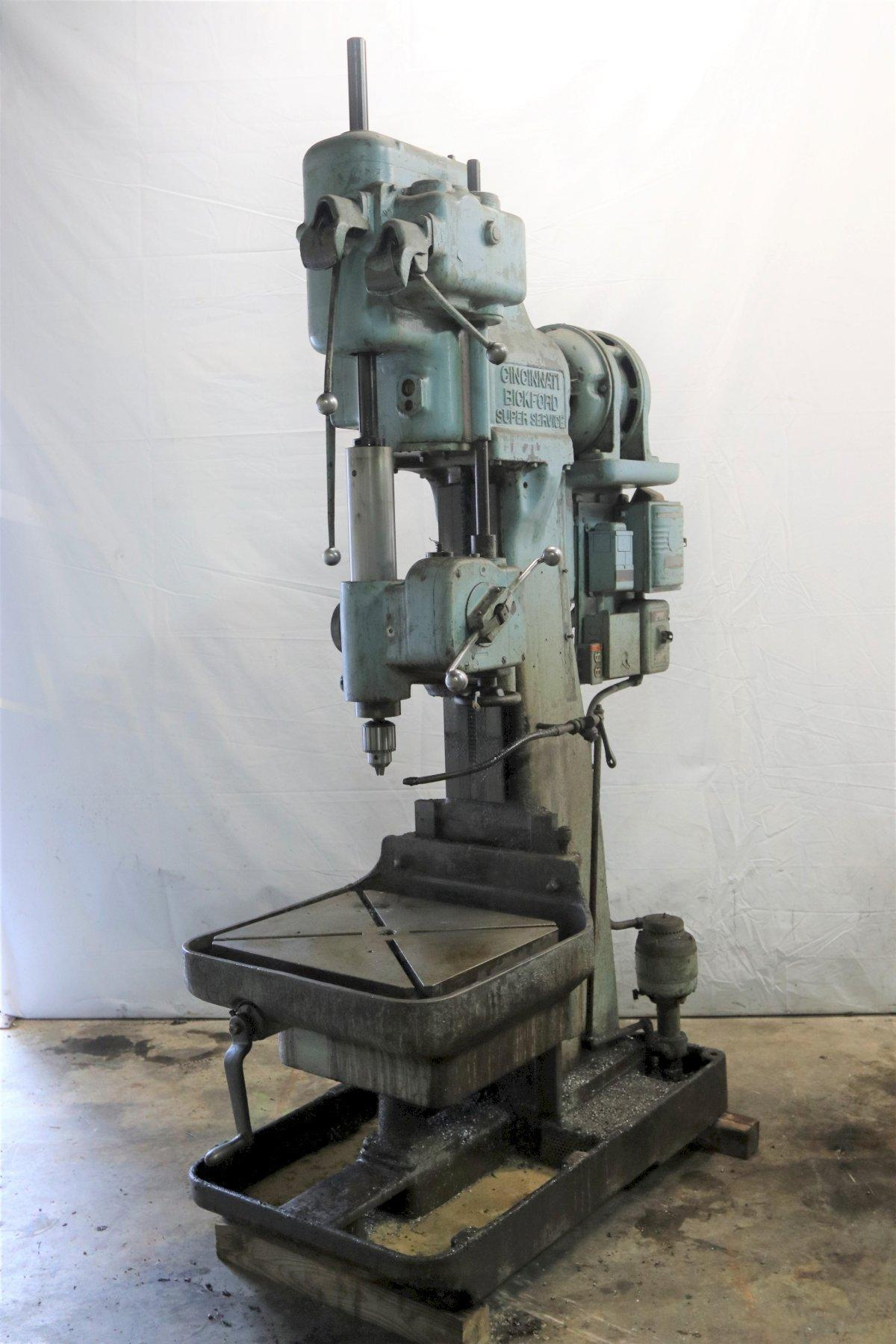 "28"" CINCINNATI BICKFORD MODEL #28 SINGLE SPINDLE DRILL: STOCK #12081"