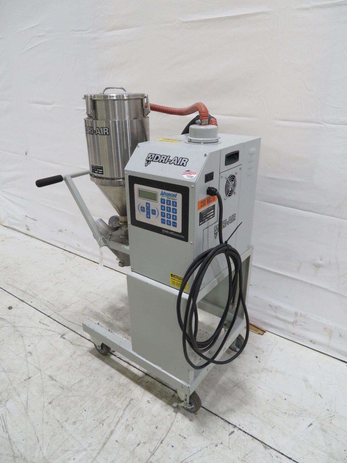Dri-Air Used MPD-15D Material Dryer, Desiccant, Approx 5 lb/hr, Year 2015