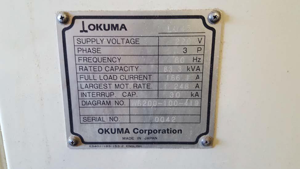 OKUMA1996 Okuma LU-45-1500 CNC Lathe