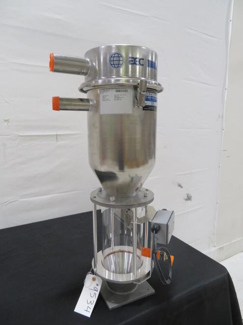 AEC Used SRI04 Vacuum Receiver, Feed Throat Site Glass Assembly