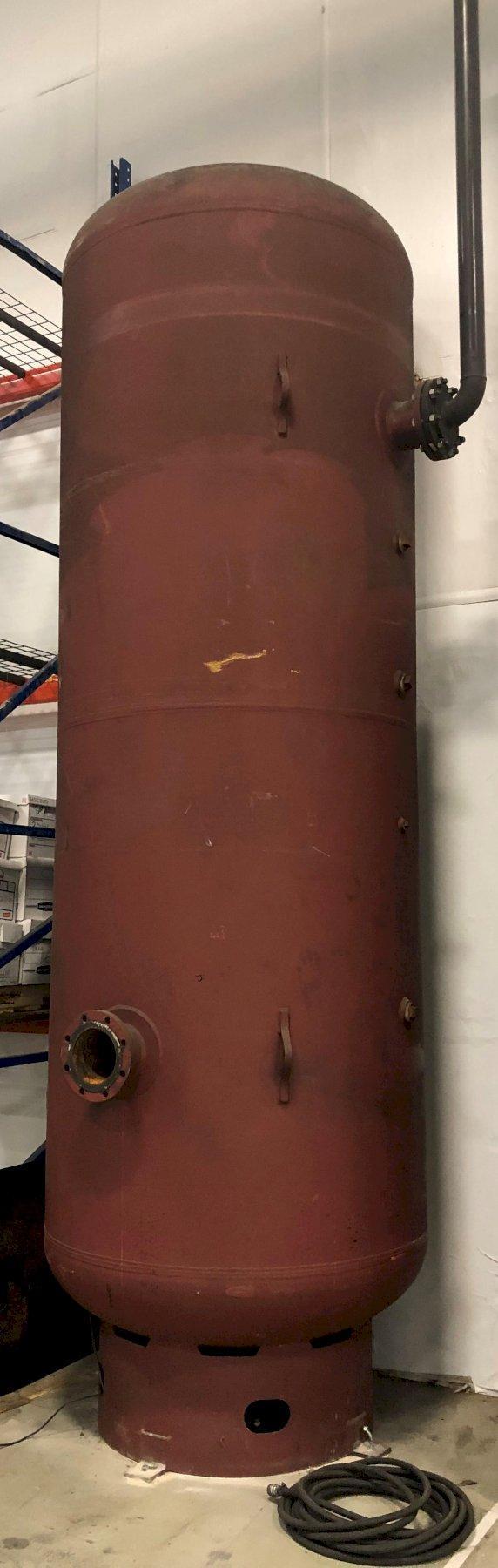 """Silvan Vertical Air Tank, Approximately 1500 Gallon, 54"""" Diameter, 177""""H"""