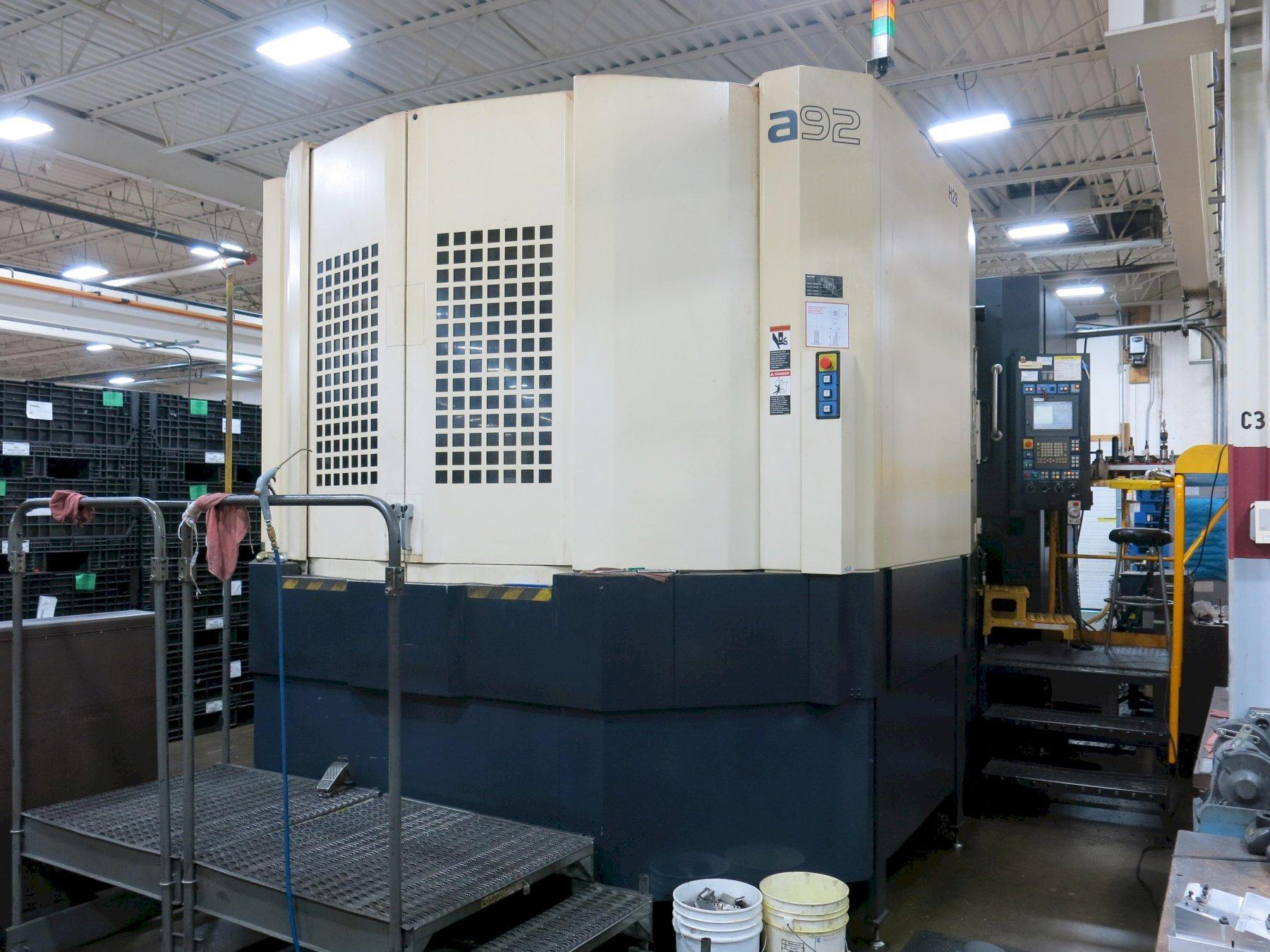 Makino Model A92 CNC Horizontal Machining Center, with 2-Pallets, Control:Pro 5, 8000RPM, 4th Axis, ATC-92, New 2008