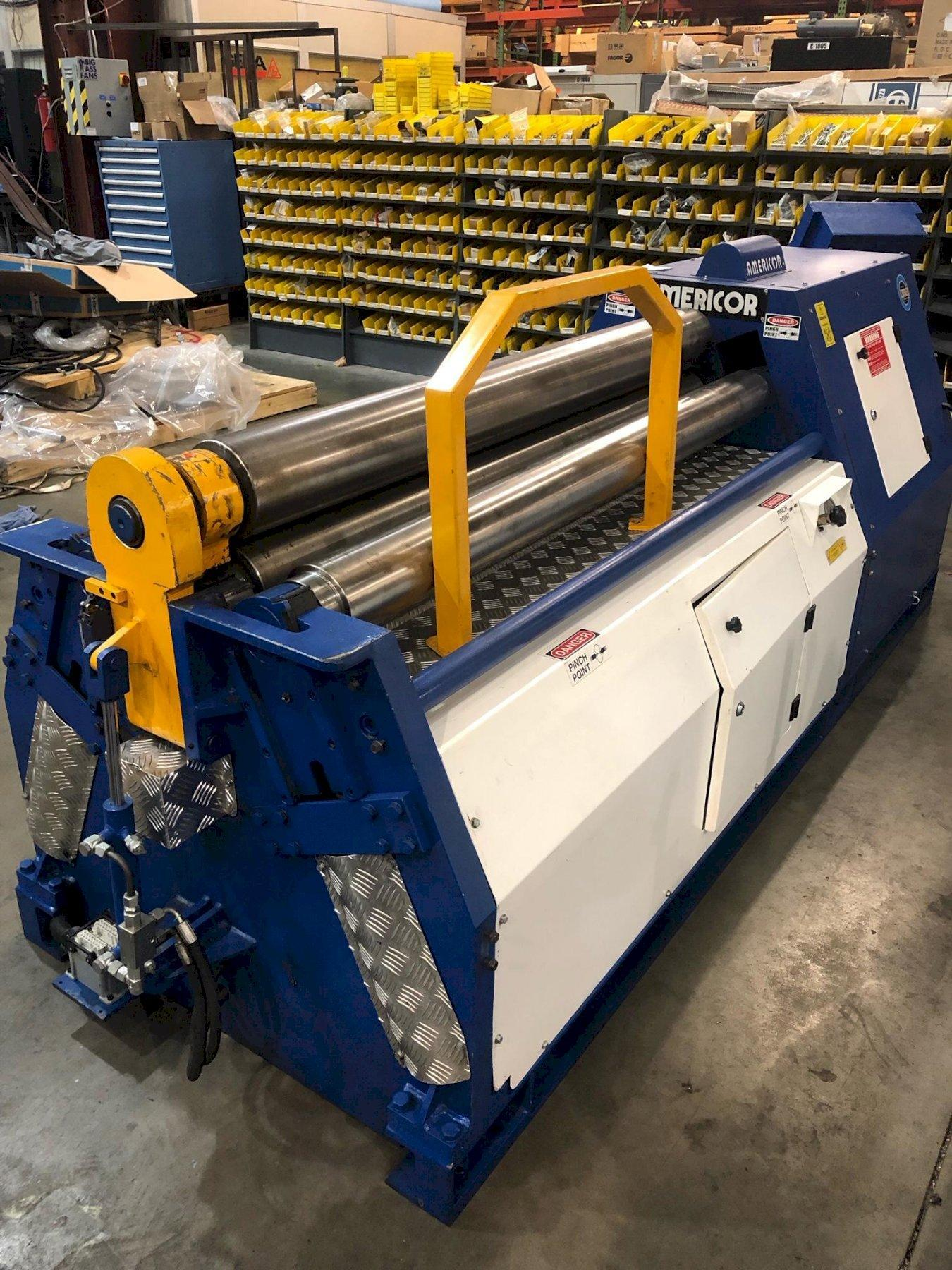 """5/16"""" x 5 ft Used Americor 4-Roll Hydraulic Plate Bending Roll Model 4RDP 150/5"""