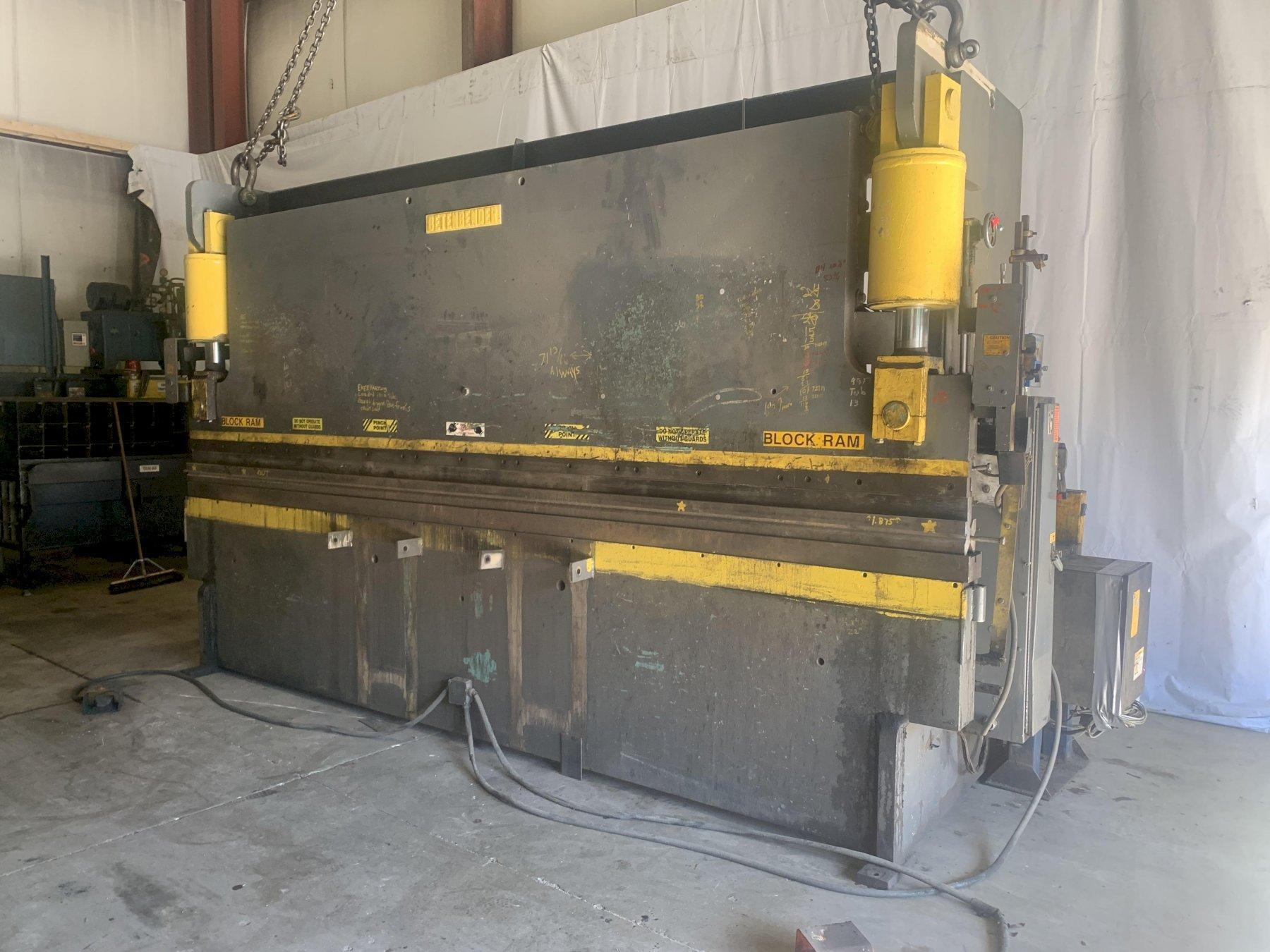 190 TON X 14' BETENBENDER HYDRAUILIC PRESS BRAKE WITH HURCO AUTOBEND 6 CNC BACK GAUGE. STOCK # 1802920