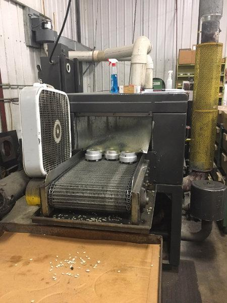 """USED MIDBROOK SINGLE STAGE PASS THROUGH PARTS WASHER, Hurricane 5018-B/O,  18"""" W x 12"""" H, 1995, Stock No. 10478"""