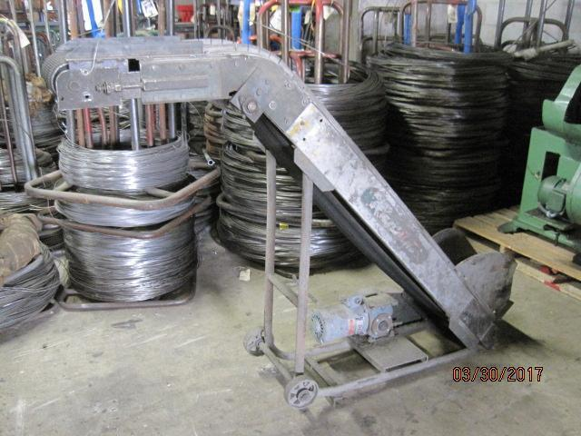 Incline Magnetic Conveyor W/Rubber Belt