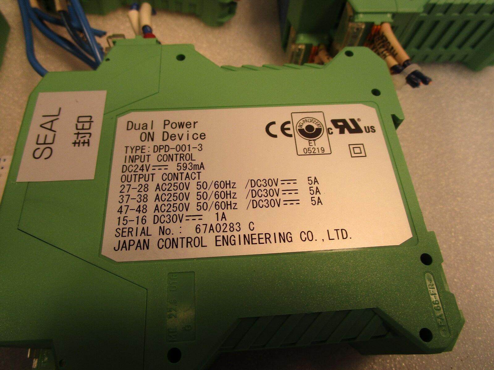 JSK Co Japan Control Engineering JCE DPD-001-3 Dual Power On Device